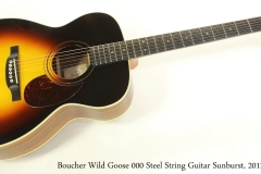 Boucher Wild Goose 000 Steel String Guitar Sunburst, 2012  Full Front View