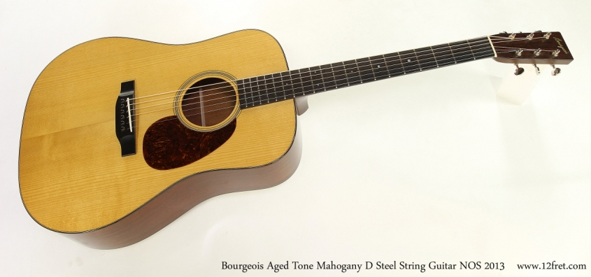 Bourgeois Aged Tone Mahogany D Steel String Guitar NOS 2013  Full Front View