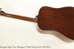 Bourgeois Aged Tone Mahogany D Steel String Guitar NOS 2013  Full Rear View