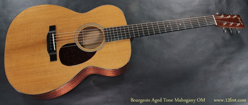 Bourgeois Aged Tone Mahogany OM full front view