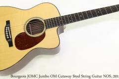 Bourgeois JOMC Jumbo OM Cutaway Steel String Guitar NOS, 2015 Full Front View
