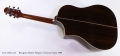 Bourgeois Martin Simpson Cutaway Guitar 1999 Full Rear View