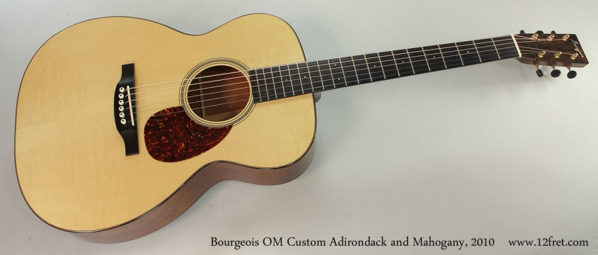 Bourgeois OM Custom Adirondack and Mahogany, 2010 Full Front View