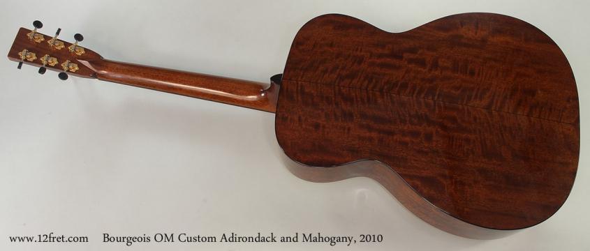 Bourgeois OM Custom Adirondack and Mahogany, 2010 Full Rear View
