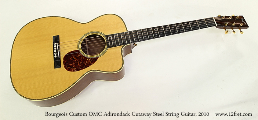 Bourgeois Custom OMC Adirondack Cutaway Steel String Guitar, 2010 Full Front View