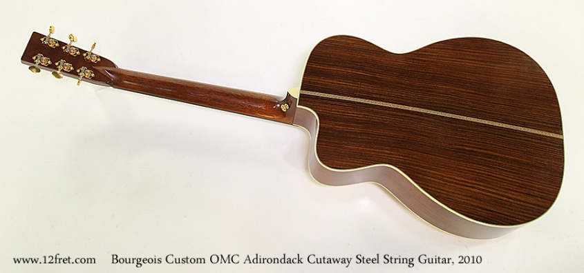 Bourgeois Custom OMC Adirondack Cutaway Steel String Guitar, 2010 Full Rear View