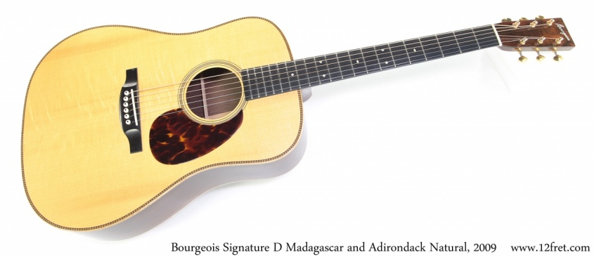 Bourgeois Signature D Madagascar and Adirondack Natural, 2009 Full Front View