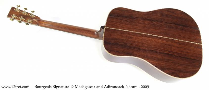 Bourgeois Signature D Madagascar and Adirondack Natural, 2009 Full Rear View