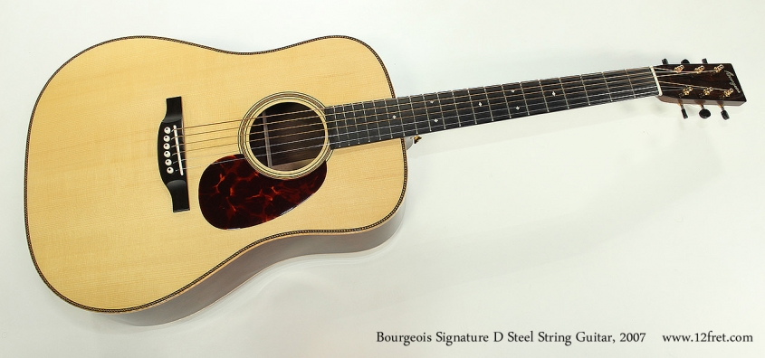 Bourgeois Signature D Steel String Guitar, 2007 Full Front View