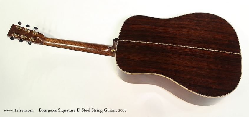 Bourgeois Signature D Steel String Guitar, 2007 Full Rear View
