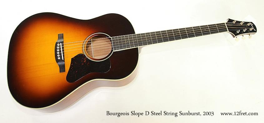 Bourgeois Slope D Steel String Sunburst, 2003 Full Front View