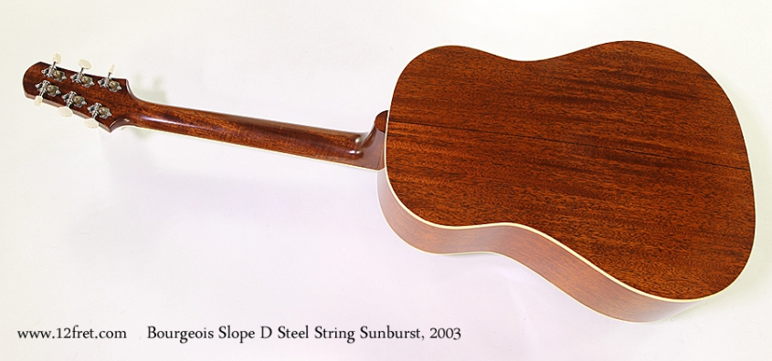 Bourgeois Slope D Steel String Sunburst, 2003 Full Rear View