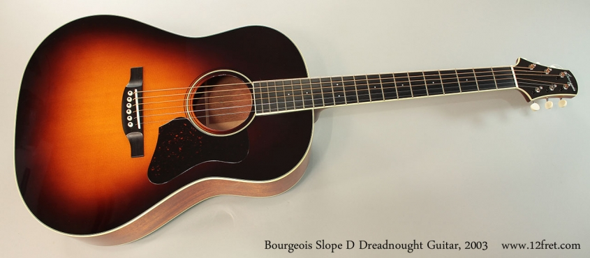 Bourgeois Slope D Dreadnought Guitar, 2003 Full Front View