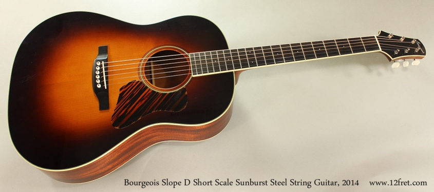 Bourgeois Slope D Short Scale Sunburst Steel String Guitar, 2014 Full Front View
