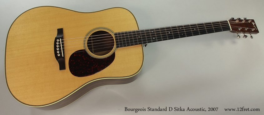 Bourgeois Standard D Sitka Acoustic, 2007 Full Front View