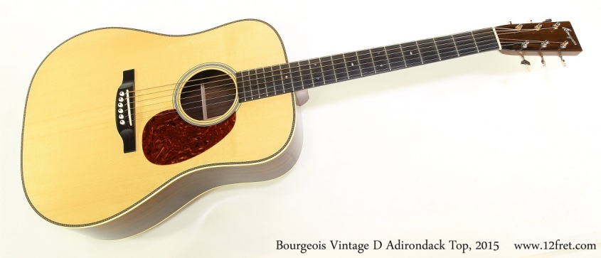 Bourgeois Vintage D Adirondack Top, 2015 Full Front View