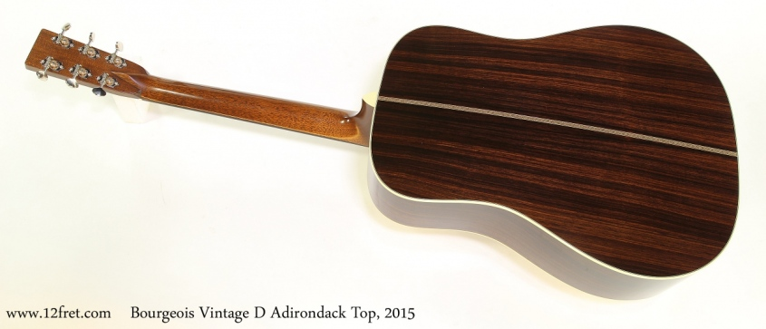 Bourgeois Vintage D Adirondack Top, 2015   Full Rear View