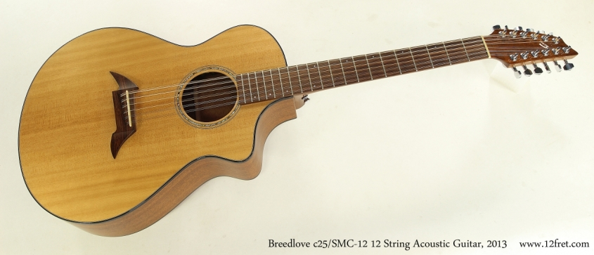 Breedlove c25/SMC-12 12 String Acoustic Guitar, 2013  Full Front View