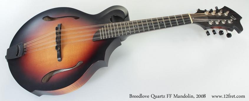 Breedlove Quartz FF Mandolin, 2008 Full Front View