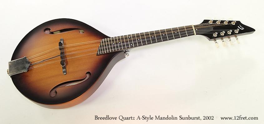 Breedlove Quartz A-Style Mandolin Sunburst, 2002 Full Front View