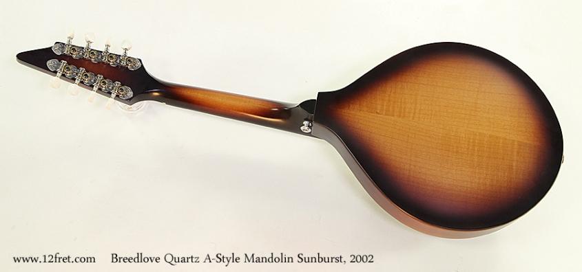 Breedlove Quartz A-Style Mandolin Sunburst, 2002 Full Rear View