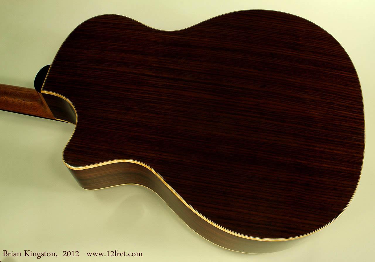 Brian Kingston Cutaway Acoustic 2012 back