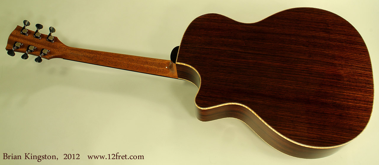 Brian Kingston Cutaway Acoustic 2012 full rear