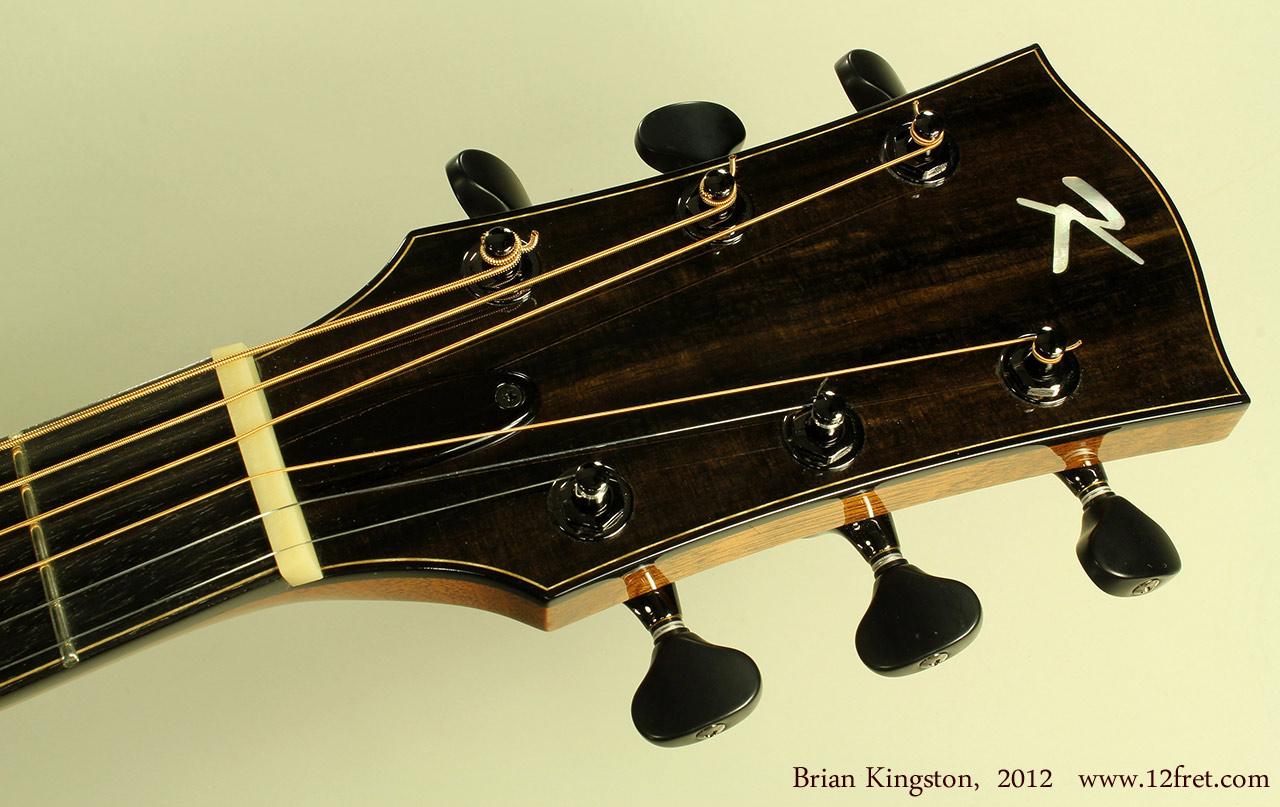 Brian Kingston Cutaway Acoustic 2012 head front