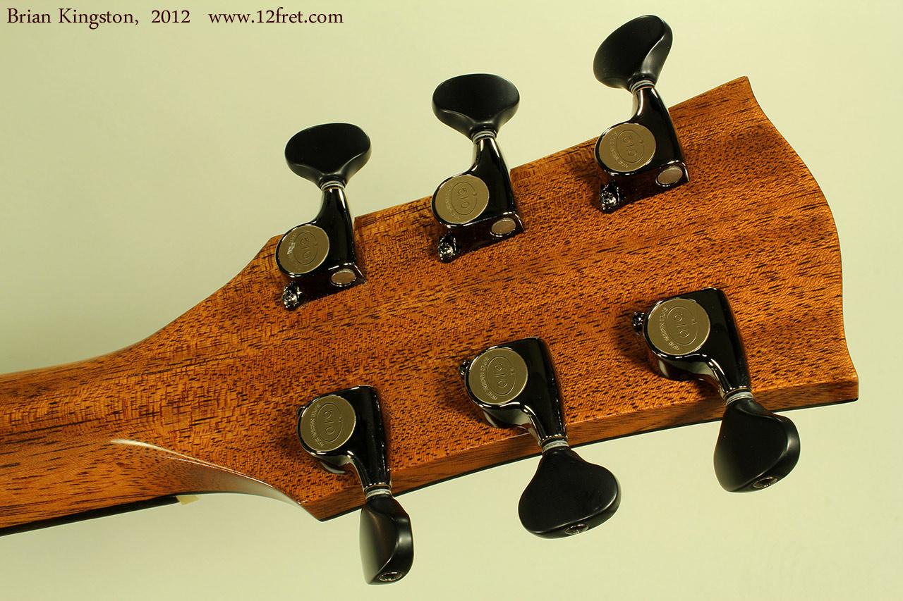 Brian Kingston Cutaway Acoustic 2012 head rear