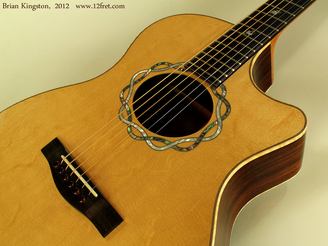 Brian Kingston Cutaway Acoustic 2012 rosette