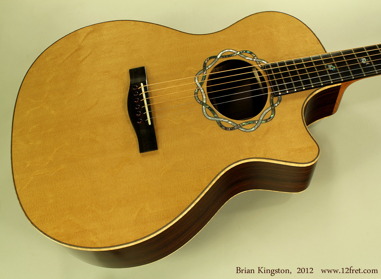 Brian Kingston Cutaway Acoustic 2012 top