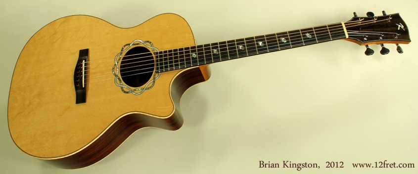 Brian Kingston Cutaway Acoustic 2012 full frong