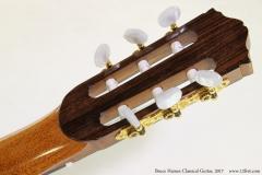 Bruce Haines Classical Guitar, 2017  Head Rear View