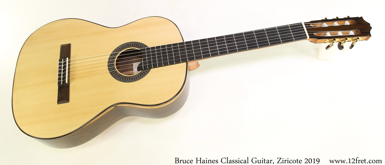 Bruce Haines Classical Guitar, Ziricote 2019 Full Front View