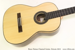 Bruce Haines Classical Guitar, Ziricote 2019 Top View
