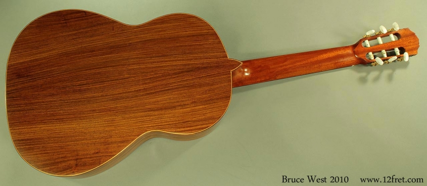 Bruce West Rosewood Classical Guitar Traditional Oil Finish, 2010 Full Rear View