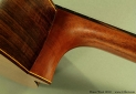 Bruce West Rosewood Classical Guitar Traditional Oil Finish, 2010 Heel View