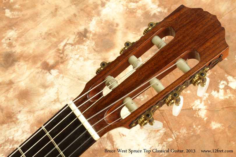 Bruce West Spruce Top Classical Guitar 2013 head front
