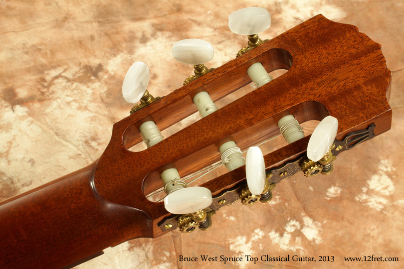 Bruce West Spruce Top Classical Guitar 2013 head rear