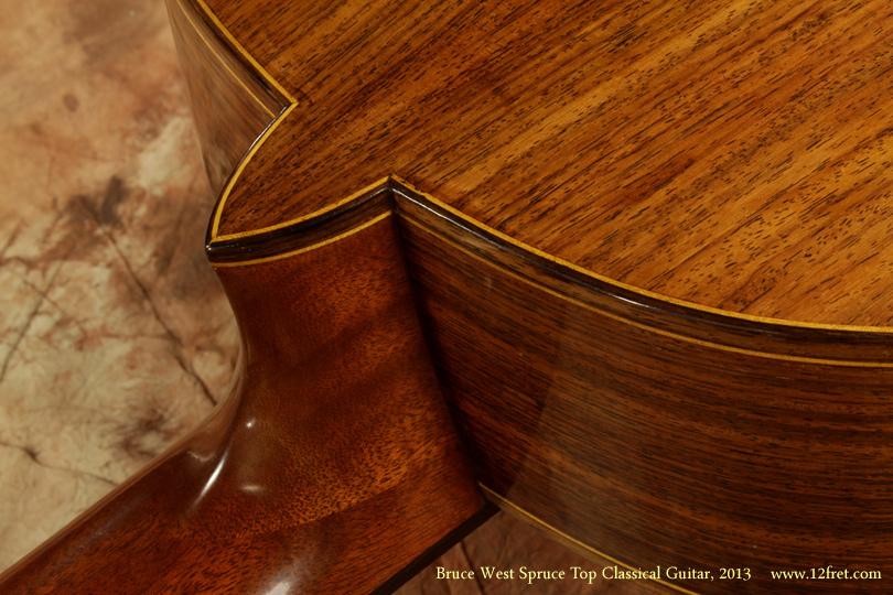 Bruce West Spruce Top Classical Guitar 2013 heel