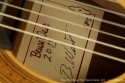 Bruce West Spruce Top Classical Guitar 2013 label