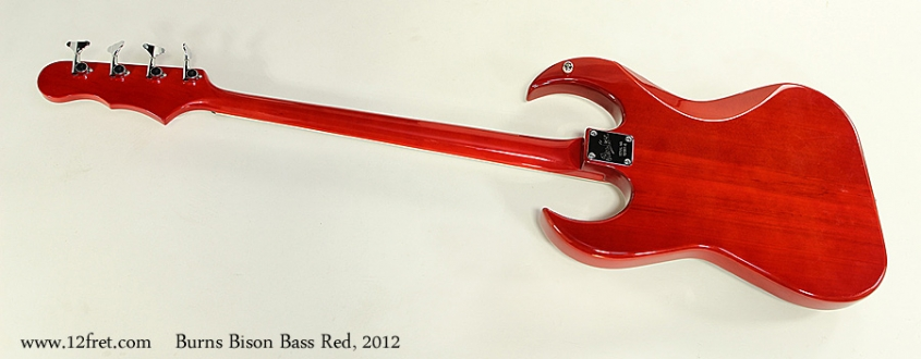 Burns Bison Bass Red, 2012 Full Rear View