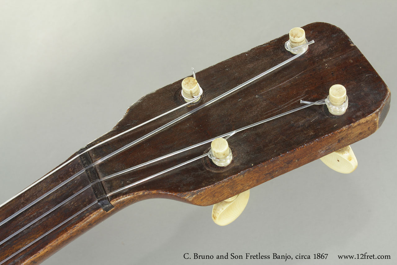 C. Bruno and Son Fretless Banjo, 1867 Head Front