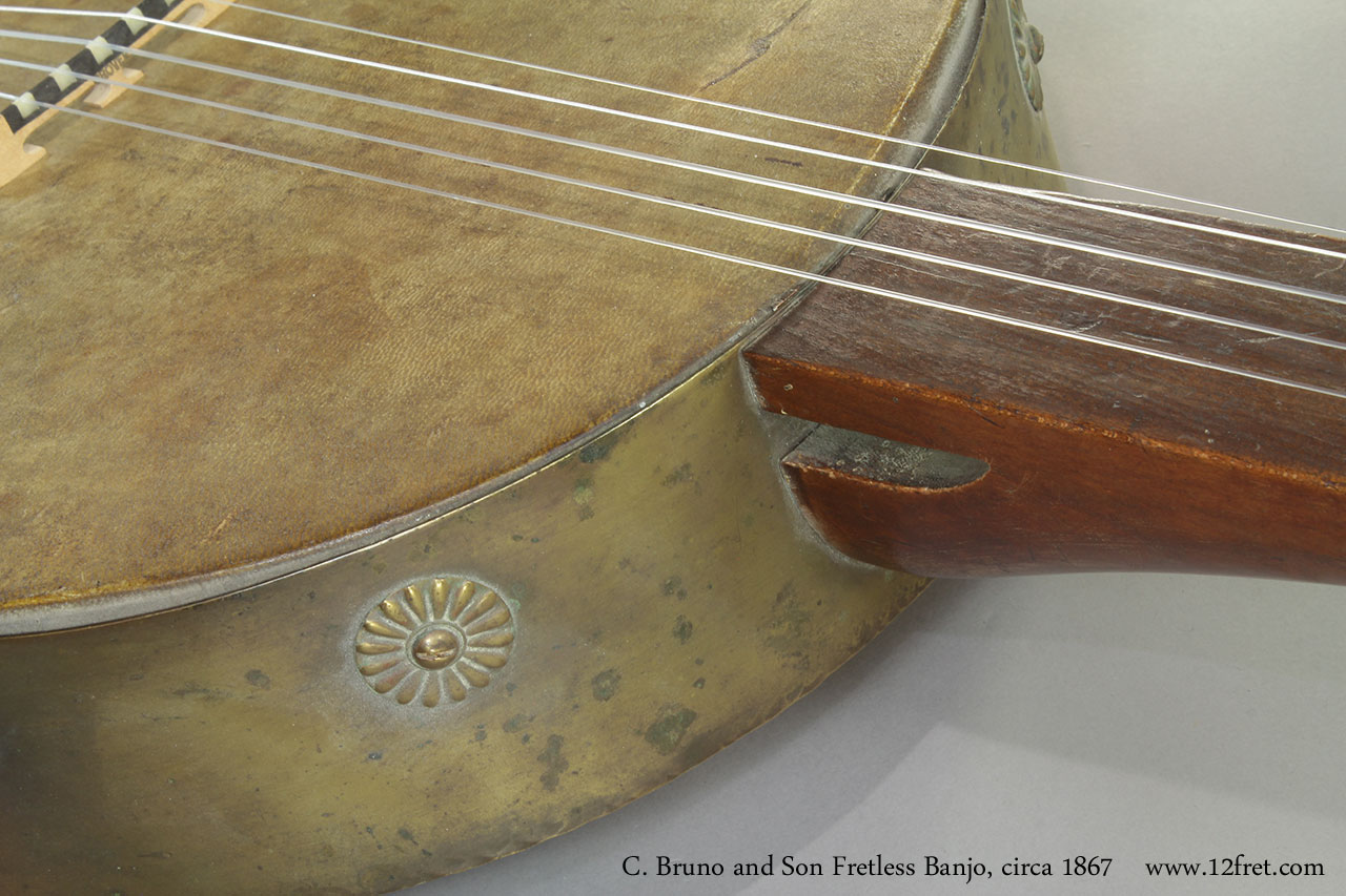 C. Bruno and Son Fretless Banjo, 1867 Heel
