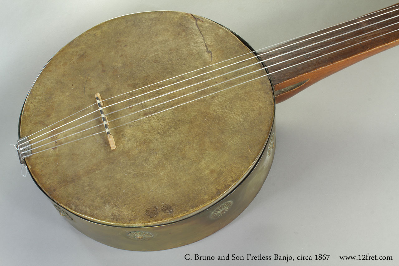 C. Bruno and Son Fretless Banjo, 1867 Top
