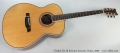 Charles Fox SJ Sonoma Acoustic Guitar, 2000 Full Front View