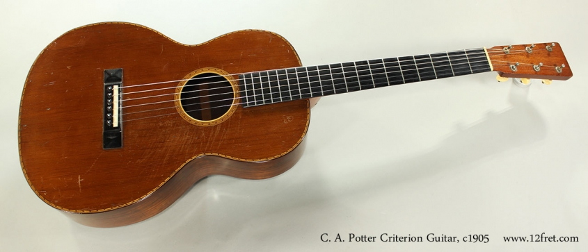 C. A. Potter Criterion Guitar, c1905 Full Front View
