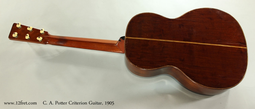 C. A. Potter Criterion Guitar, c1905 Full Rear View