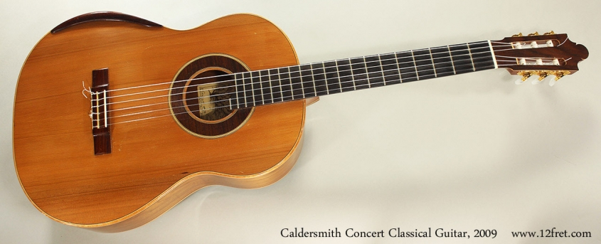 Caldersmith Concert Classical Guitar, 2009 Full Front View