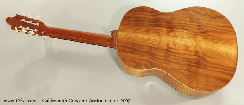 Caldersmith Concert Classical Guitar, 2009 Full Rear View